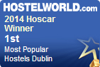 Isaacs hostel  was winner  of Dublin's most popular Hostel award in 2014