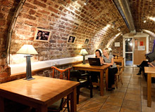 Basement  Chill out areas  at Isaacs Hostel dublin
