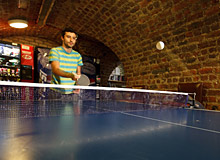 free  Games and table tennis at central dublin  hostel