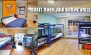 Private rooms and dormitories  at Dublin Youth Hostel
