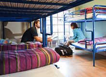 clean and bright Dormitories at central Dublin Hostel